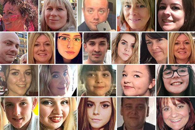 Manchester terror victimsd