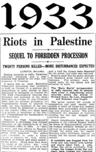 1933 riots