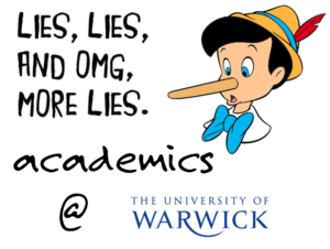 University of Warwick lies