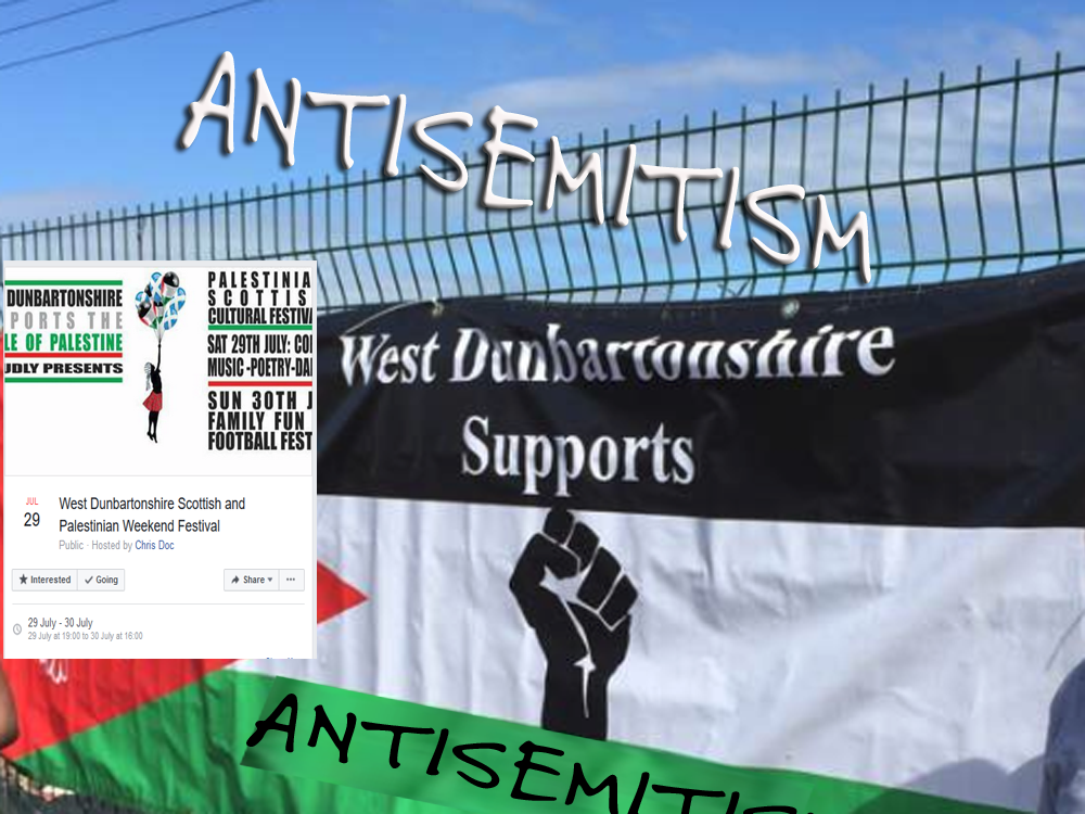 West Dumbartonshire supports antisemitism