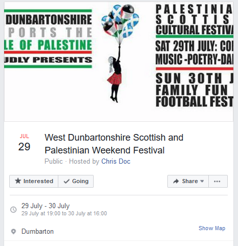 Dumbarton party advert