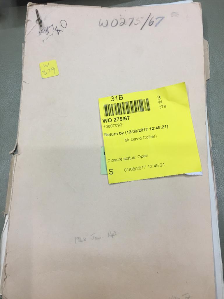 File WO 275/67