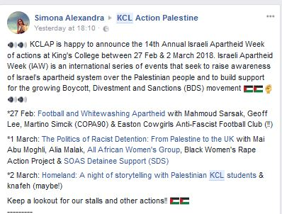 Apartheid Week at KCL