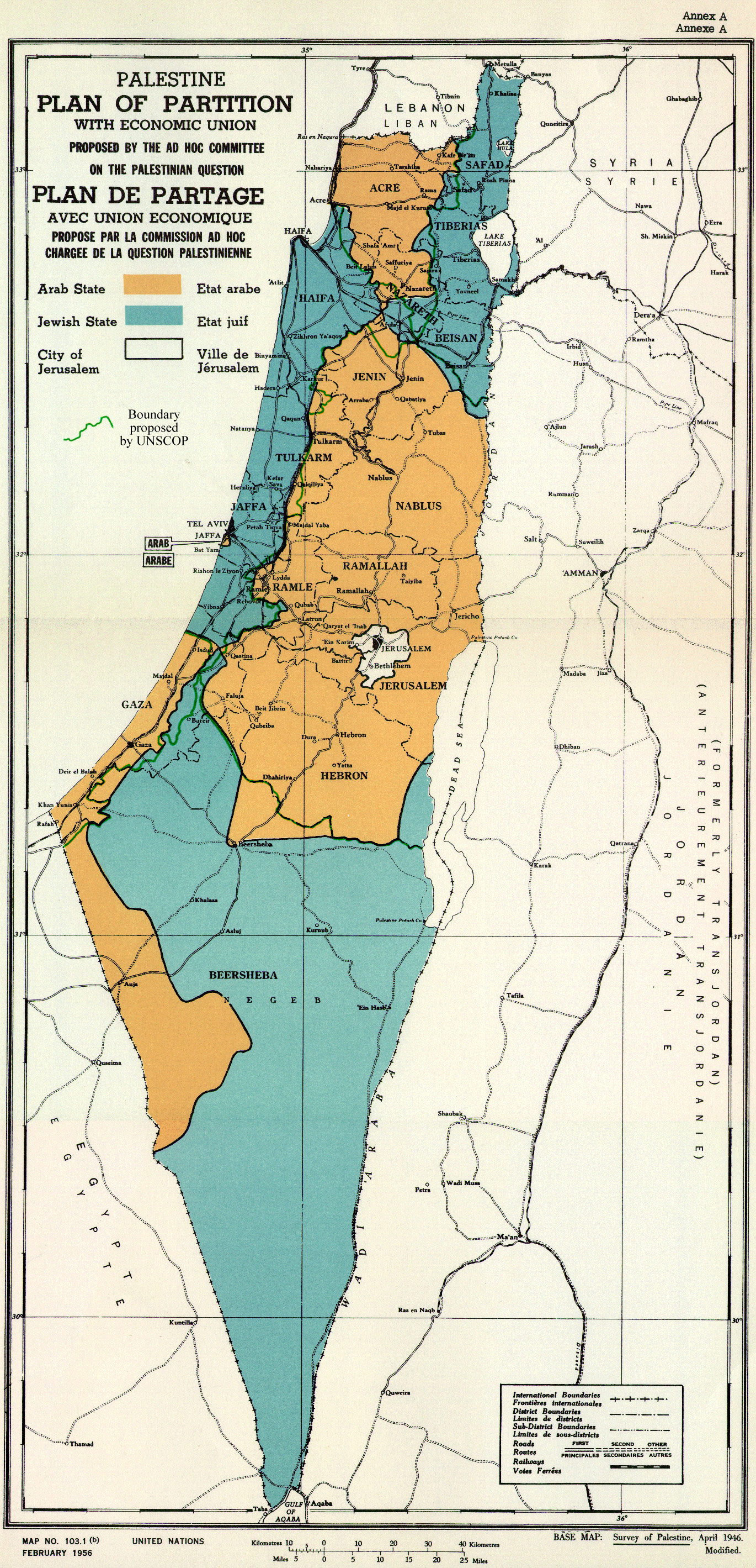 UN 1947 Partition Map