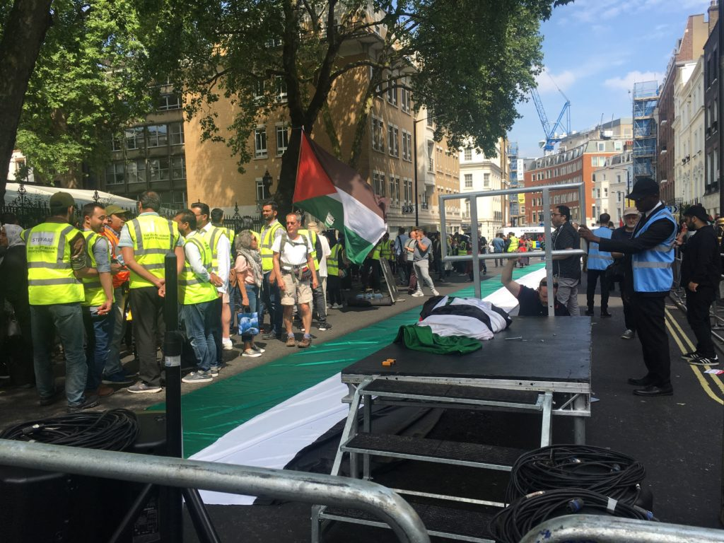 Hezbollah demonstration in London
