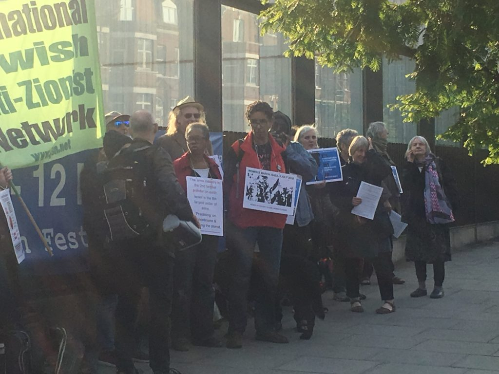 JW3 anti-Zionist protest