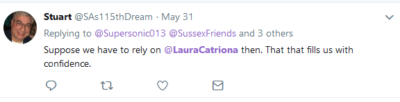 Stuart blocked by Laura Murray